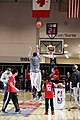 All-Star Game Weekend Robert Horry shooting 3's at NBA All-Star Center Court 2016 (24944709431).jpg