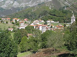 View of the village of Alles.
