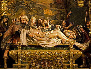 Burial of Jesus - The Entombment of Christ by Pedro Roldán