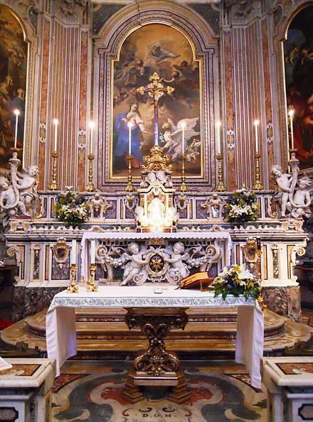 Altare maggiore della Chiesa della Nunziatella