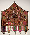 Alter Cloth (Toran), Saurashtra, Gujarat, India, 20th Century, cotton, metal and mirror pieces. plain weave with embroidery and mirror work, Honolulu Academy of Arts.jpg