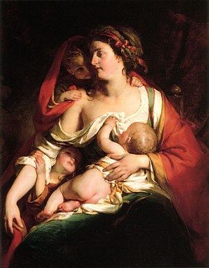 Friedrich von Amerling - Mutter und Kinder (Mother and children)