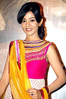 Amrita Rao at the First look launch of [replacesinglequotehere]Singh Sahab The Great[replacesinglequotehere].jpg