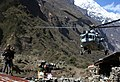 An Indian Air Force (IAF) MI-17 V5 helicopter about to land at Ghoda Tabela to rescue 04 member Israeli Army team and personnel of 01 Corps Indian Army following a recent massive earthquake in Nepal.jpg