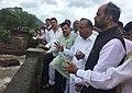 Anant Geete and the Minister of State for Home Affairs, Shri Hansraj Gangaram Ahir visiting the mishap site of a bridge collapse across the Savitri river near Mahad, in Raigad district, Maharashtra.jpg