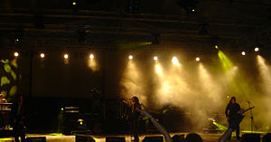 Anathema (band) - Anathema in concert at Istanbul Cemil Topuzlu Harbiye Amphitheatre in 2005.