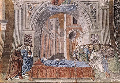 Andrea del castagno, Dormition of the Virgin