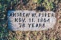 Andrew W Piper grave marker.jpg