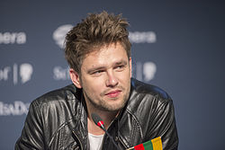 Andrius Pojavis, ESC2013 press conference 06.jpg