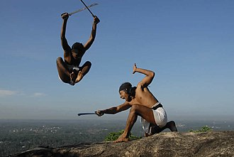 Angampora - Sword demonstration atop Korathota hill top