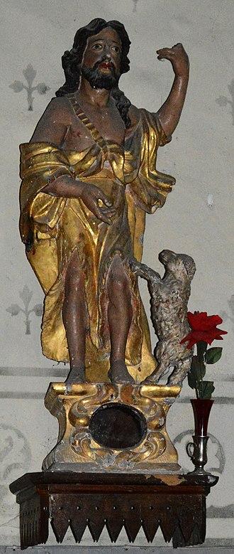Angles, Alpes-de-Haute-Provence - Image: Angles, Alpes de Haute Provence, Statue Saint John the Baptist 2