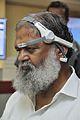Anil Vij Checks Mind Game Exhibit - National Demonstration Laboratory - NCSM - Kolkata 2016-10-07 8220.JPG