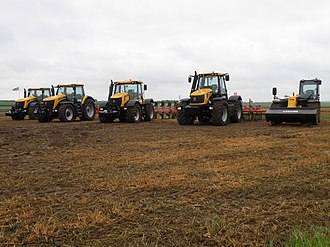 Cereals Event - A line up of JCB products at the 2010 Cereals Event