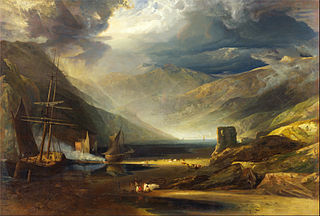 A Scene on the Coast, Merionethshire - Storm Passing Off