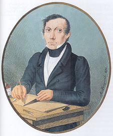 Autoportrét z roku 1830; kvaš na slonovině, národní muzeum praha