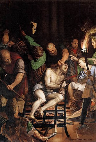 1581 in art - Campi – The Martyrdom of St. Lawrence