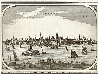 Market town - By the mid-16th century, Antwerp was Europe's largest market town