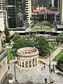 Anzac Square, Brisbane seen from L3 terrace, Sofitel Hotel 03.jpg