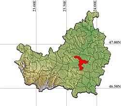 Vị trí của Apahida