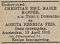 Apeldoornsche Courant vol 052 no 033 advertisement Emil Küpper and Agnita Feis.jpg