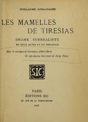 Guillaume Apollinaire: Les mamelles de Tiresias