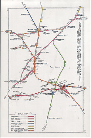 Dearne Valley Railway - Image: Applehurst, Askern, Doncaster, Kirk Sandall, Shaftholme, Stainforth & Thorne RJD 23