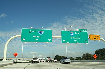 Interstate 275, approaching the Interstate 4 e...