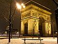 Arc de Triomphe + snow (8399514463).jpg