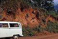Archaeological site exposed by road cut, Northern Liberia (West Africa), 1968 (4515893011).jpg