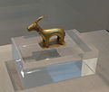 Archaeological site of Akrotiri - Museum of prehistoric Thera - Santorini - golden deer sculpture - 01.jpg
