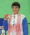 Archana (India) won the gold medal in 55kg female Wrestling, at 12th South Asian Games-2016, in Dispur, Guwahati on February 06, 2016.jpg