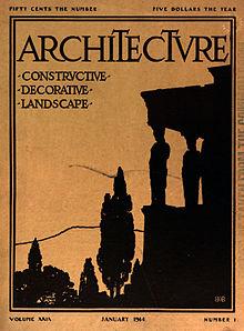 Обложка журнала архитектуры 1914 г., версия 29, номер 1 - Hathi Trust (изменено) .jpg