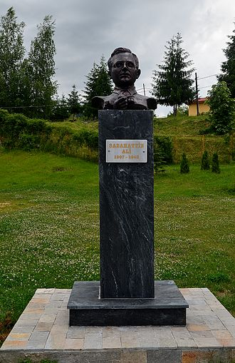 Sabahattin Ali - Bust of Sabahattin Ali in his birthplace at Ardino, Kardzhali Province, Bulgaria.