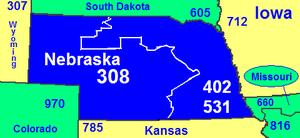 Area code 308 - Image: Area code NE