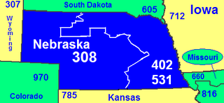 Area codes 402 and 531