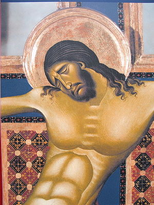 San Domenico, Arezzo - Crucifix (detail) by Cimabue