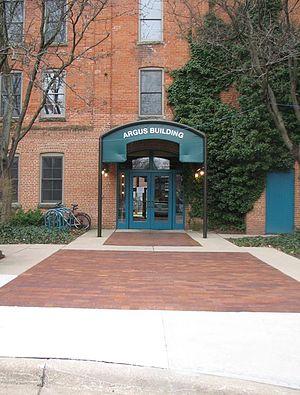 Argus Museum - Argus Museum entrance in spring