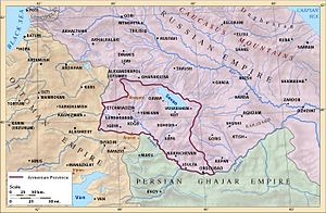 Russian Armenia - Map of the Armenian Oblast.