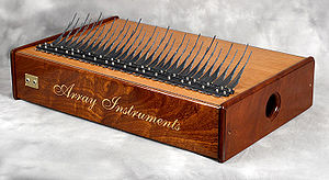 Sapele - An array mbira made of sapele wood