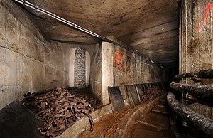 """Arrivée du grand couloir reliant le fort du Salbert à l'Ouvrage """"G"""", côté Ouvrage """"G"""".jpg"""