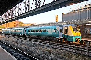 Chester railway station - An Arriva Trains Wales Class 175 waits at platform 3