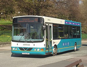 Arriva Buses Wales - Wright Cadet bodied VDL SB120 in Bangor in April 2009