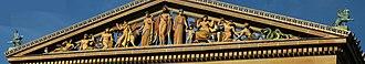 Léon-Victor Solon - Western Civilization pediment, Philadelphia Museum of Art, C. Paul Jennewein, sculptor, Leon V. Solon, colorist