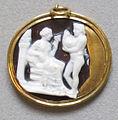 Arte ellenistica (alessandria), trittolemo e cerere su sardonice, II sec. ac.jpg
