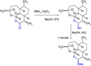 Semisynthesis - Image: Artemether Synthesis