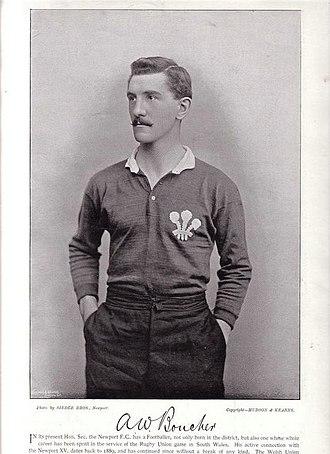 Arthur Boucher - Boucher in Wales jersey