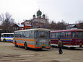 Arzamas. Old Soviet buses at Town Bus Station of Suburb Lines.jpg