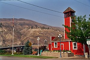 Ashcroft, British Columbia - The historic fire hall in Ashcroft, which was rebuilt after a major fire in 1919