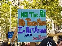 Manifestació No tinc por a Barcelona