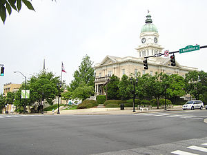 Athens, Georgia - City Hall on College Avenue in Downtown Athens, seen across Washington Street